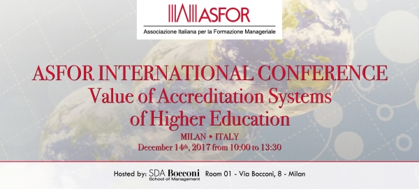 ASFOR International Conference - Milan, December 14, 2017