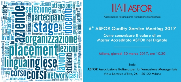 5° ASFOR Quality Service Meeting